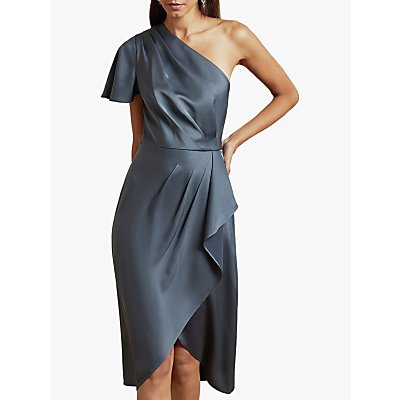 Ted Baker Ridah Asymmetric Ruffle Satin Dress