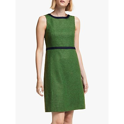 Boden Carrie Tweed Dress, Bright Green
