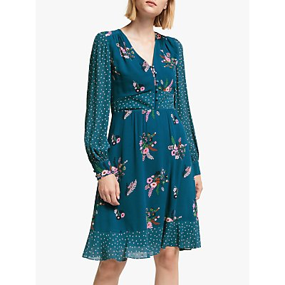 Boden Ivy Dress, Baltic/Country Posy
