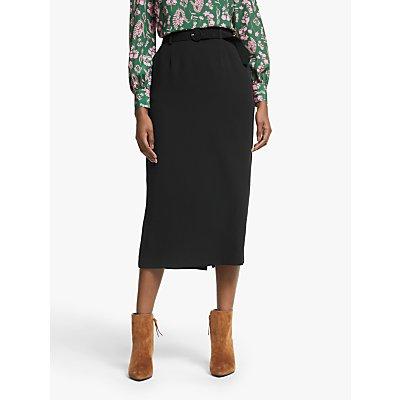 Boden Christina Belted Skirt, Black