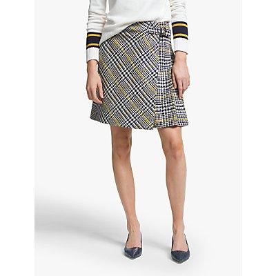Boden Eleanor Tweed Kilt Skirt, Yellow