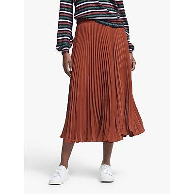 Boden Kristen Pleated Skirt, Conker