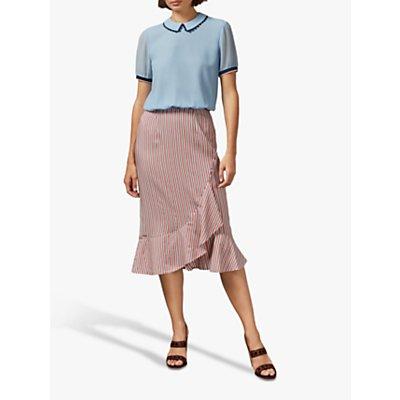 Ted Baker Coryn Ruffle Hem Skirt, Pink