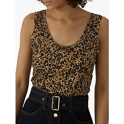 Karen Millen Leopard Print Vest, Multi