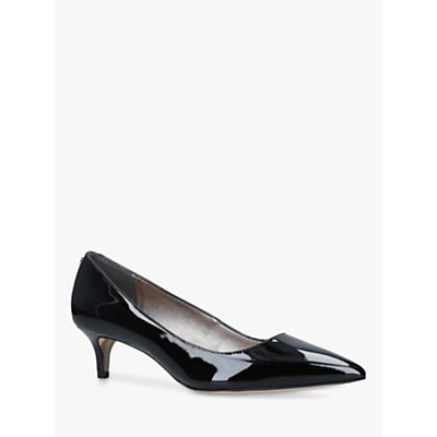 Sam Edelman Dori Kitten Heel Patent Court Shoes, Black