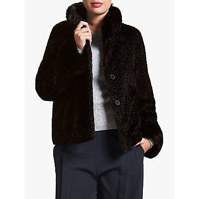 Four Seasons Astrakhan Faux Fur Collar Jacket