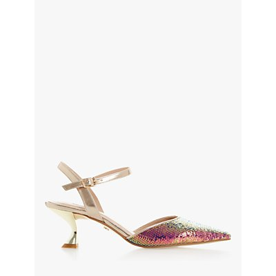 Dune Doriaa Sequin Pointed Toe Slingback Shoes, Multi