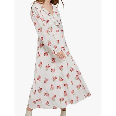 Ghost Elize Dress, White/Multi