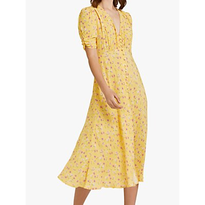 Ghost Flo Dress, Yellow/Multi