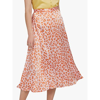 Ghost Tabitha Animal Print Skirt, Orange Margo Cheetah