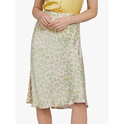 Ghost Laila Skirt, Green Margo Cheetah