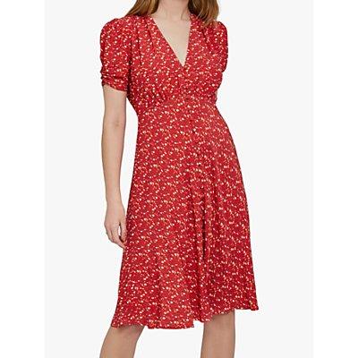 Ghost Sabrina Dress, Lulu Ditsy Red