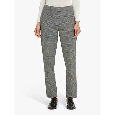Helen McAlinden Jill Check Trousers, Black/Grey