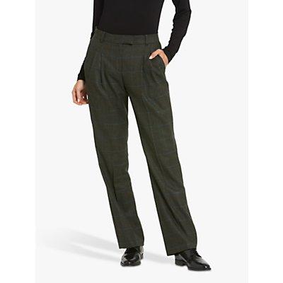 Helen McAlinden Sophie Magee Tweed Print Pants, Green
