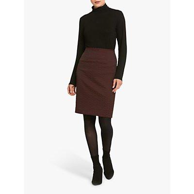 Helen McAlinden Beth Jacquard Skirt, Burgundy