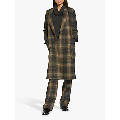 Helen McAlinden Victoria Check Coat, Neutral/Multi