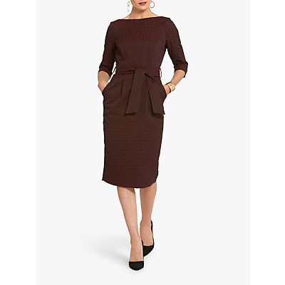 Helen McAlinden Caroline Jacquard Dress, Burgundy
