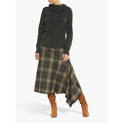 Helen McAlinden Madison Check Skirt. Neutral/Multi