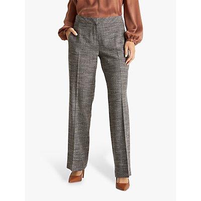 Fenn Wright Manson Petite Megane Trousers, Black/Ivory Check