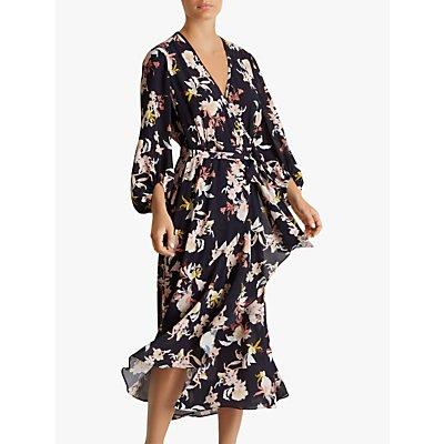 Fenn Wright Manson Petite Jolie Floral Wrap Dress, Multi
