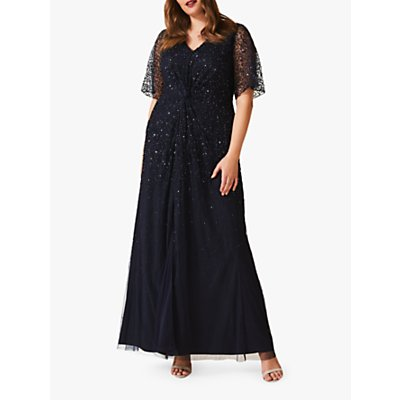 Studio 8 Nancy Embellished Full Length Dress, Navy