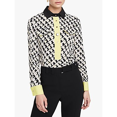 Damsel in a Dress Rachele Print Shirt, Black/Multi