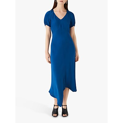 Finery Harley Satin Midi Dress, Royal Blue