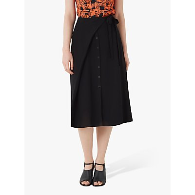 Finery Akenside Tie Waist Midi Skirt, Black