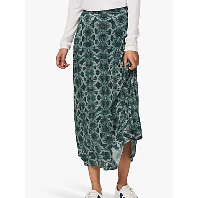 Brora Snake Print Skirt, Glacier
