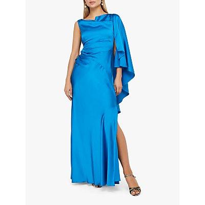 Monsoon Cobie Cape Maxi Dress, Blue