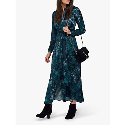Monsoon Synthia Snake Print Dress, Blue