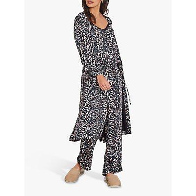 hush Piped Printed Kimono, Camo Leopard