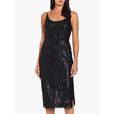 Adrianna Papell Beaded Tank Midi Dress, Black