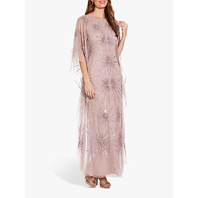 Adrianna Papell Beaded Kaftan Dress, Cameo