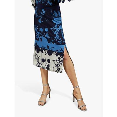 Ted Baker Selaah Floral Midi Skirt, Blue