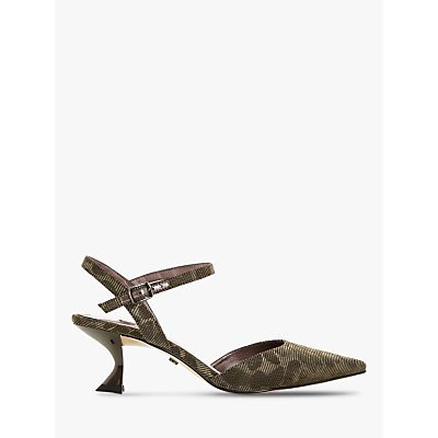 Dune Doriaa Fabric Pointed Toe Slingback Shoes, Gold