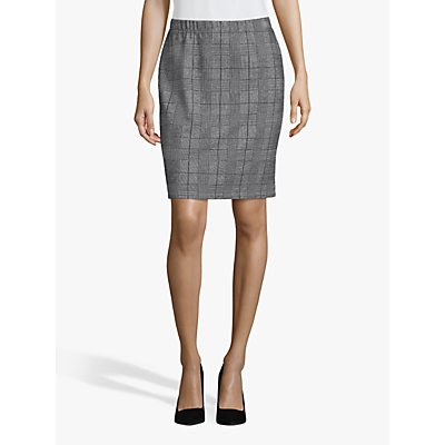 Betty & Co. Check Skirt, Black/White