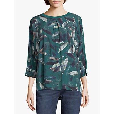Betty & Co. Leaf Print Top, Green
