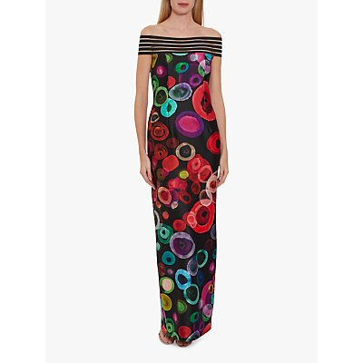 Gina Bacconi Manisha Maxi Dress, Black/Multi