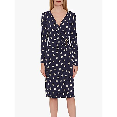 Gina Bacconi Pearla Jersey Wrap Dress, Navy