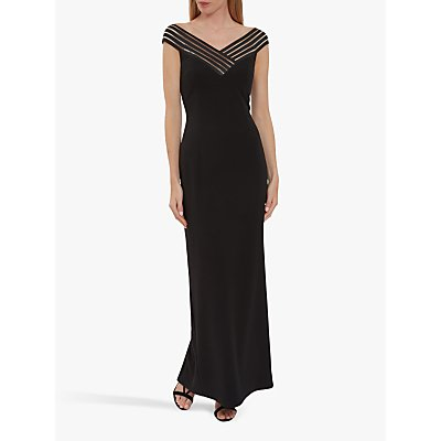 Gina Bacconi Ismeria Strap Detail Maxi Dress, Black
