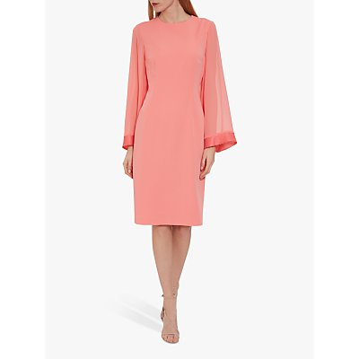 Gina Bacconi Moss Crepe Dress, Dahlia