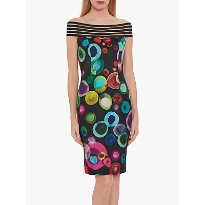Gina Bacconi Verla Dress, Black/Multi