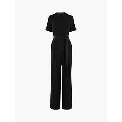 Karen Millen Zip Front Jumpsuit, Black