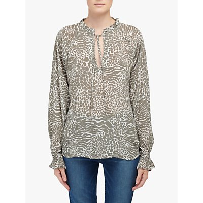 Lily and Lionel Florence Animal Print Top, Khaki