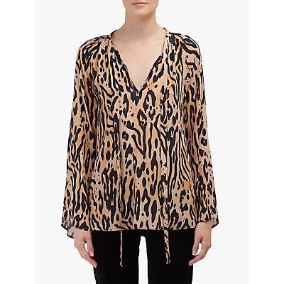 Lily and Lionel Amber Animal Print Top, Caramel
