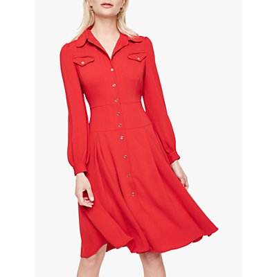 Damsel In A Dress Sancia Trench Dress, Red