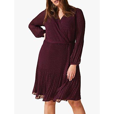 Studio 8 Marian Dobby Spot Wrap Dress, Merlot