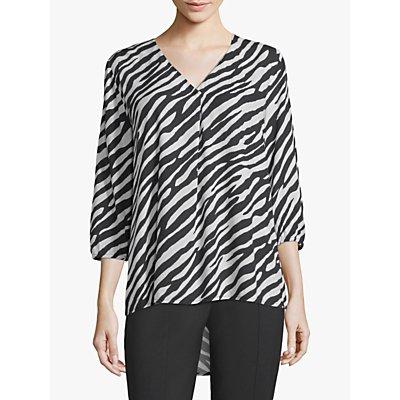 Betty Barclay Zebra Print Blouse, Cream/Black