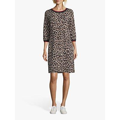 Betty Barclay Animal Print Dress, Black/Camel